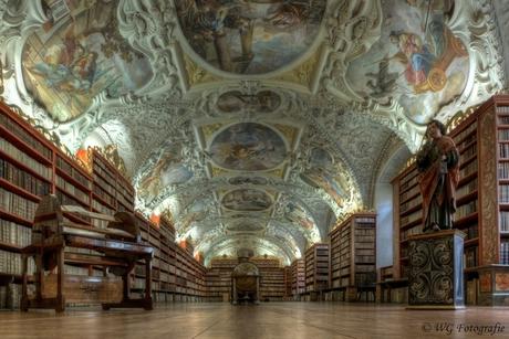 Bibliotheek zaal 2 Strahovklooster Praag