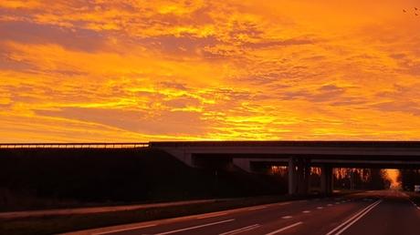 Schitterende zonsopkomst vanmorgen