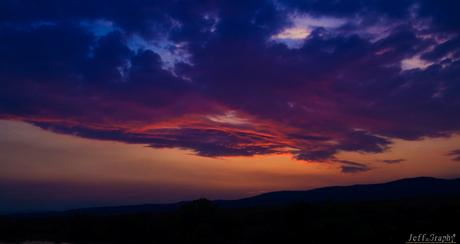Zonsondergang in Rudesheim