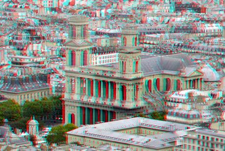 View from Tour Montparnasse Paris 3D