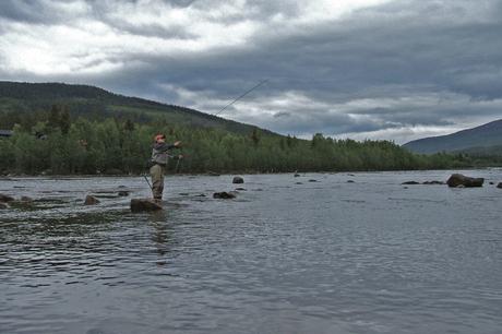 Vliegvissen in Noorwegen