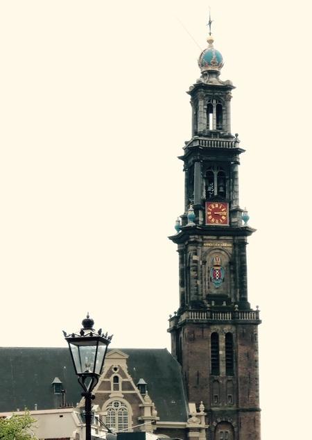 Die oude Wester - Serie stad - foto door Toppie op 29-04-2015 - deze foto bevat: amsterdam, kerk, stad