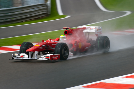 Felipe Massa in de regen