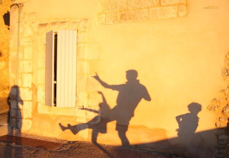 Asking a shadow to dance.