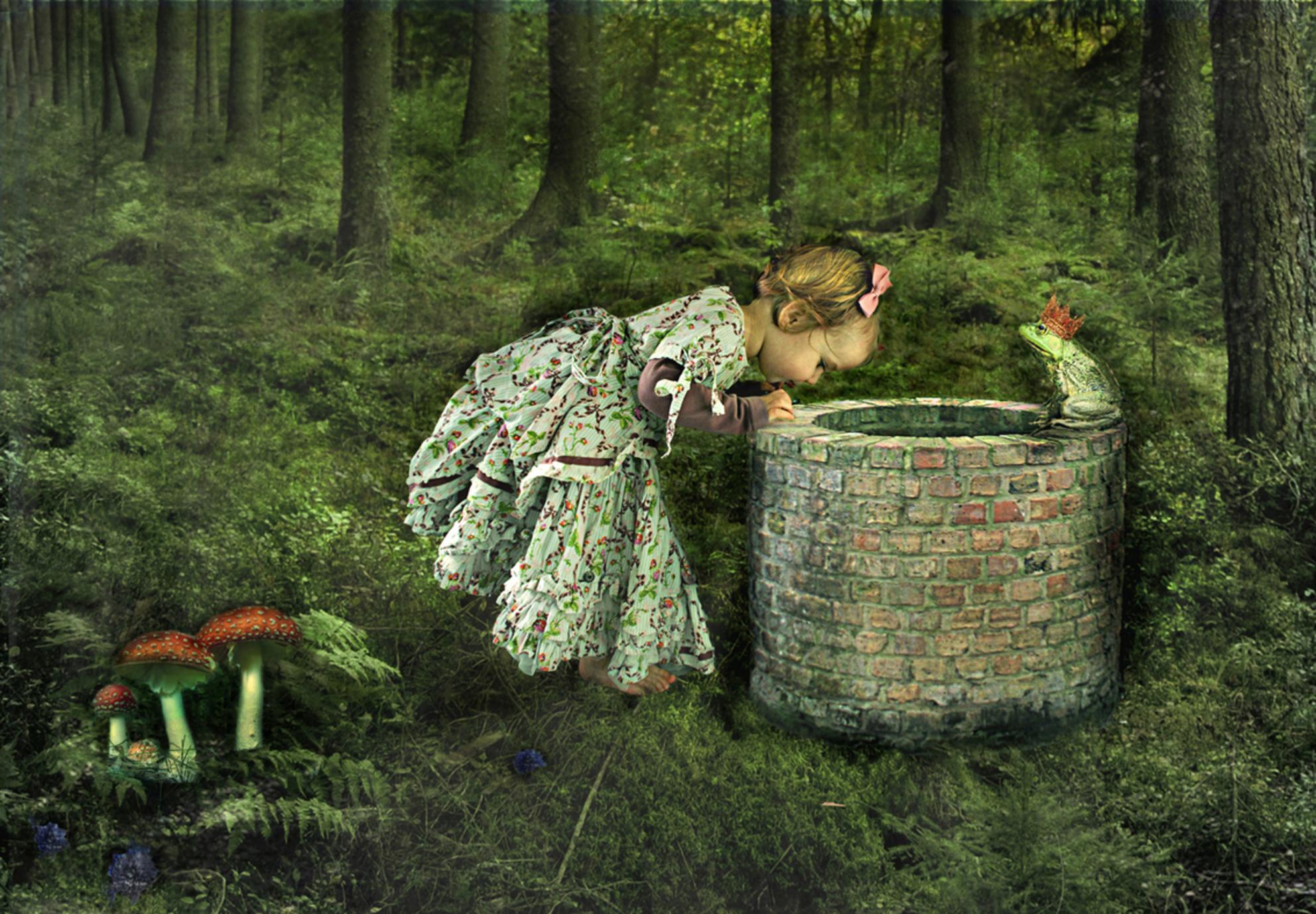 Frog King - Bewerking van m'n dochtertje Sophie - foto door lotuss op 11-03-2011 - deze foto bevat: fantasie, kind, bewerking, sprookje - Deze foto mag gebruikt worden in een Zoom.nl publicatie