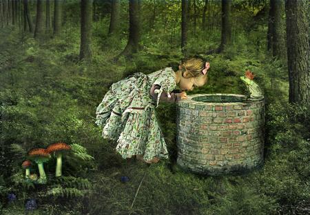 Frog King - Bewerking van m'n dochtertje Sophie - foto door lotuss op 11-03-2011 - deze foto bevat: fantasie, kind, bewerking, sprookje