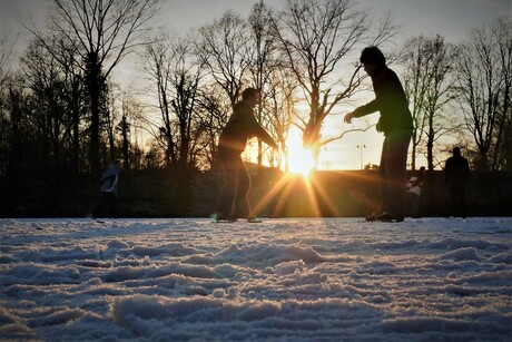 schaatsen op de fortgracht