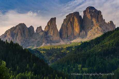 Grohmanspitze (Dolomieten) tegen zonsondergang
