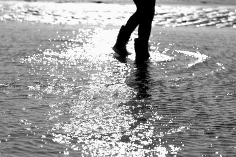 Laarzen en water