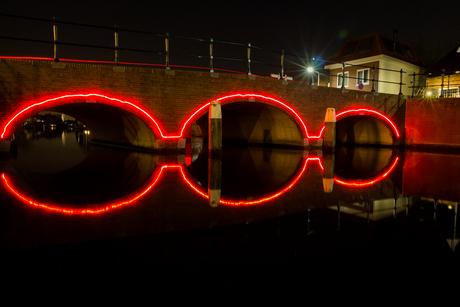 Symmetrische lichtbrug