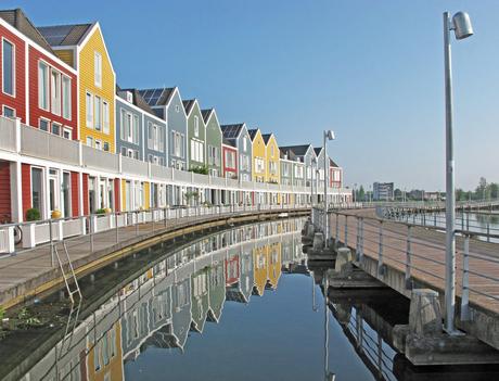 Huizen op het water