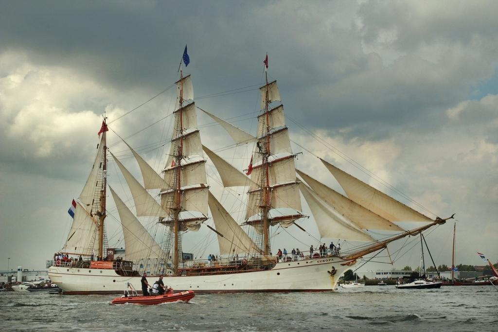 Bark Europa - - - foto door JokeHulst op 26-08-2015 - deze foto bevat: amsterdam, bark, europa, noordzeekanaal, Tall Ship, sail 2015