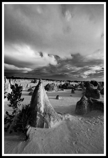 pinnacles zwart wit