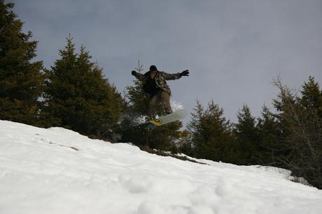 Offpiste snowboarden Les Deux Alpes