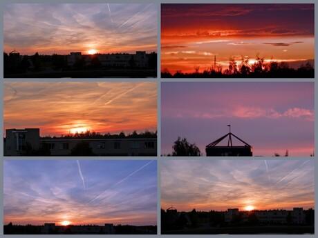 Zonsondergang in Assen.