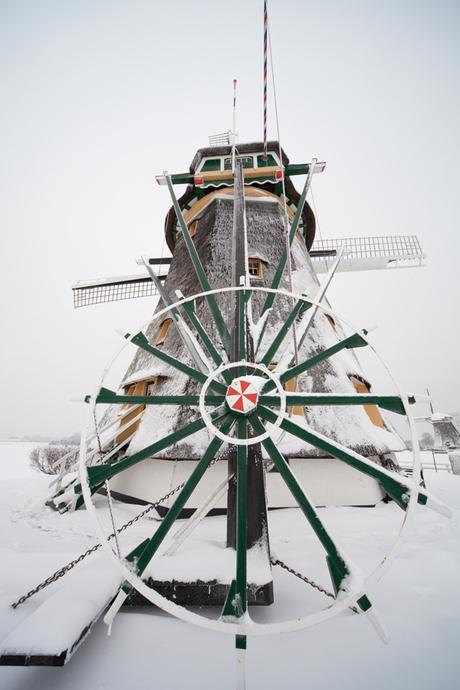 Een van de drie molens