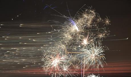 Firework in motion