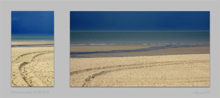 Strand na regenbui - Na een fikse regenbui ... kregen we deze bijzondere kleuren. - foto door MyriamVE op 07-09-2015 - deze foto bevat: strand