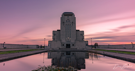Zonsondergang bij Radio Kootwijk