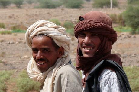 Kamelenhoeders in Marokko