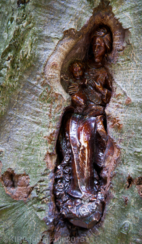 Madonna in wood.