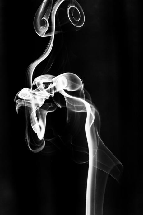 Black and white smoke