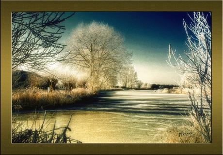 Winterlandschap - bewerkt