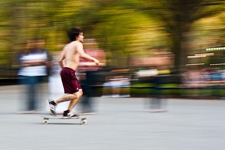 Skateboarding in Central Parc (2)