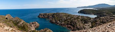 Cap de Creus - Panorama vanaf Cap de Creus in Spanje - foto door vsgamer op 18-11-2011 - deze foto bevat: blauw, zee, water, panorama, landschap, photoshop, diepte, stitchen