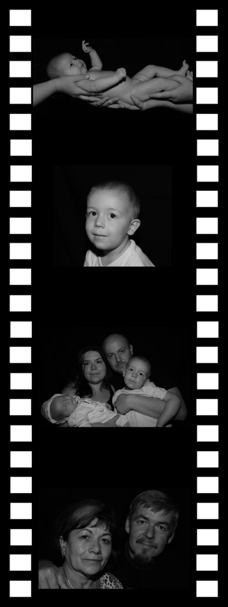 Familie filmstrip