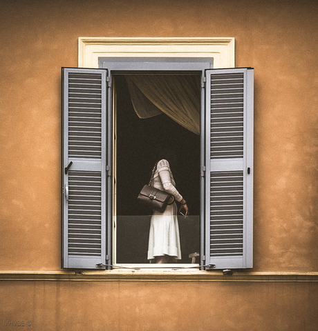 The Lady in White (Window Ghost)