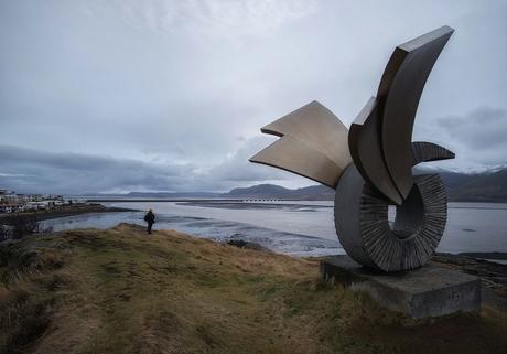 IJsland Brakarsund, het klaart op