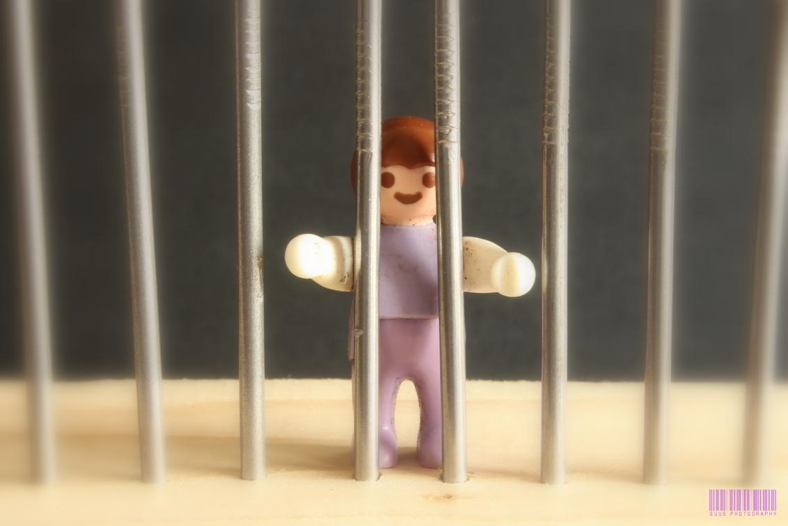 I'm innocent! - Gelukkig kan hij er wel om lachen!? - foto door susannekim op 01-11-2020 - deze foto bevat: humor, speelgoed, spijkers, macrofotografie