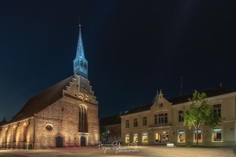 Oud Dokkum in het blauw