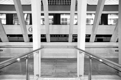 trein op station