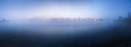Zutphen in de mist