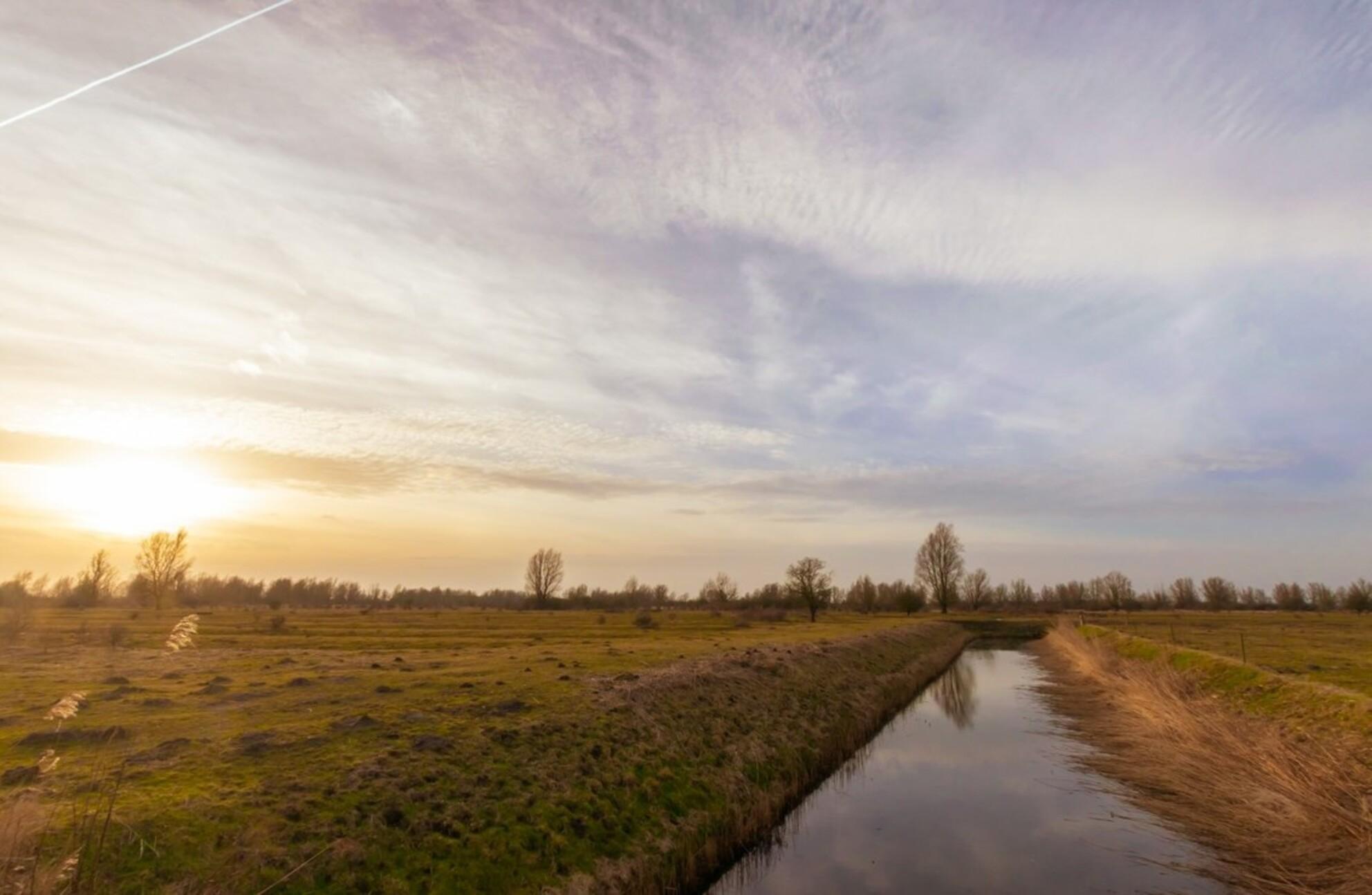 Lentegevoel - De winterkou verjaagd door dit plotselinge lente-gevoel in Kollumerwaard. - foto door Mirandalahuis op 04-03-2021 - deze foto bevat: lucht, kleuren, wolken, spiegel, zon, water, lente, zonsondergang, spiegeling, landschap, luchten, rust, friesland, noord-nederland, nederlandse luchten - Deze foto mag gebruikt worden in een Zoom.nl publicatie