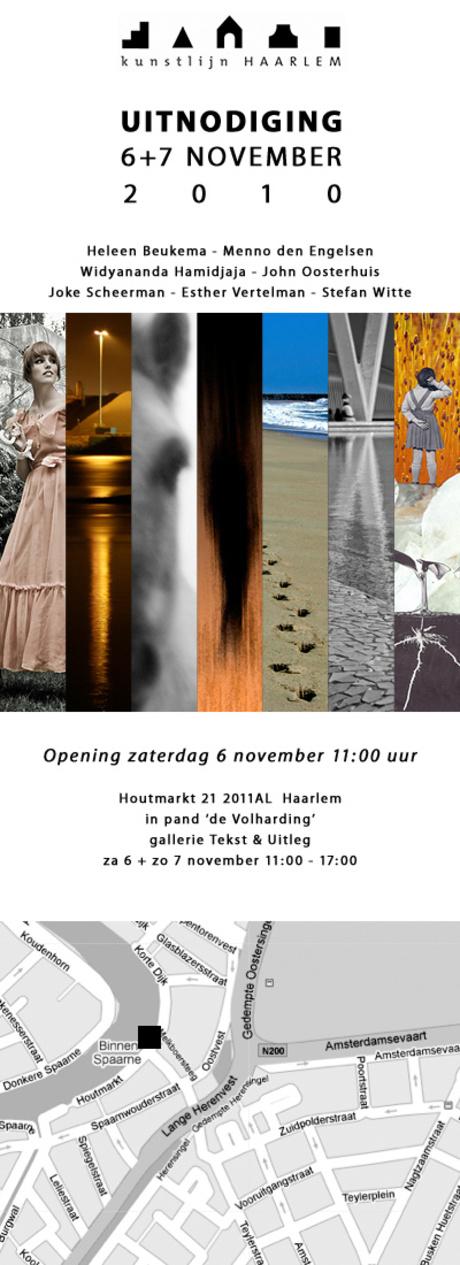 Expositie tijdens kunstlijn Haarlem