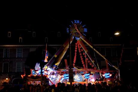 Outsite carnival in the dark