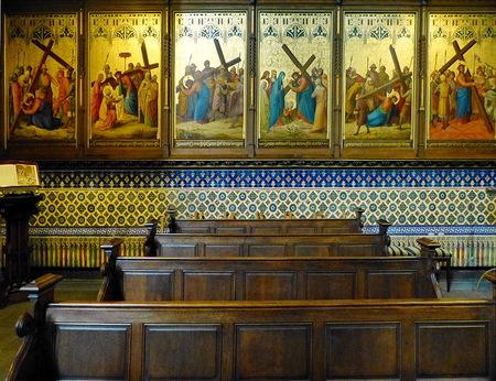 Kerkinterieur. - Interieur van Onze Lieve Vrouwenkerk in  Zwolle die tussen 1394 en 1399 werd gebouwd.  15 mei 2013. Groetjes Bob. - foto door oudmaijer op 31-08-2020 - deze foto bevat: oud, licht, architectuur, kerk, gebouw, kunst, stad, zwolle, schilderijen, kerkinterieur