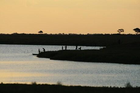 vissen op de Chobe