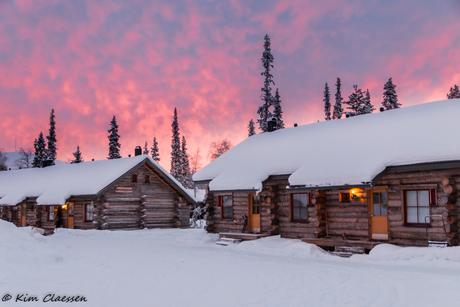 Zonsondergang in Fins Lapland