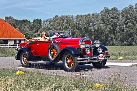 Hudson Roadster 1929 (5534) - 1929 Hudson Super Six Series S Model Roadster  [url]https://www.flickr.com/photos/photiste/48341957857/in/album-72157631000661006/[/url] [url]http - foto door clay op 03-11-2020 - deze foto bevat: auto, oldtimer, hudson, straatfotografie, evenement, clay, elfsteden oldtimer rally, vintage transport, amerikaanse oldtimer, hindeloopen - nederland, 1929, hudson super six series s model roadster