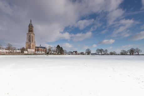 Cunerakerk in de sneeuw