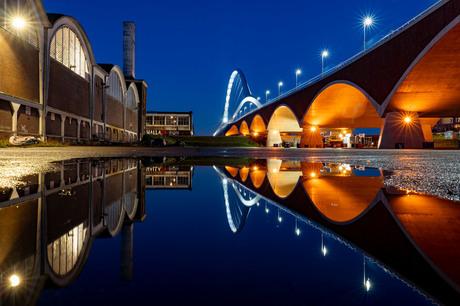 Vormrijm bij stadsbrug de Oversteek Nijmegen