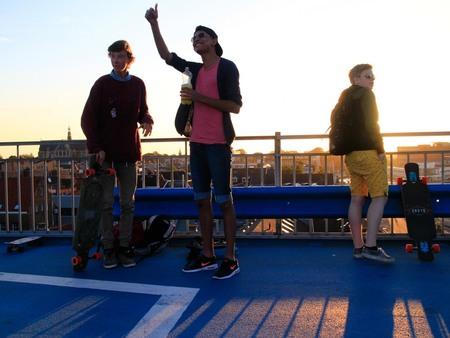 Sunset Approved - - - foto door lk123456789 op 17-06-2015 - deze foto bevat: sunset, zonsondergang, alkmaar, longboarding