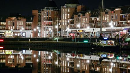 Almere Haven - Almere Haven bij nacht - foto door HilbertFlokstra op 05-03-2016 - deze foto bevat: tijdopname, nacht fotografie