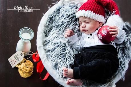 Newborn Sessie Kerst Thema