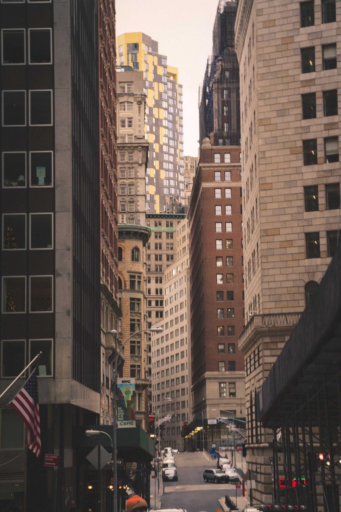 """Layers - Een deel van Manhattan met hele mooie """"lagen"""" van gebouwen - foto door lk123456789 op 08-02-2015 - deze foto bevat: gebouwen, gebouw, manhattan, lagen, layers, New York, hooghuis, hooghuizen"""