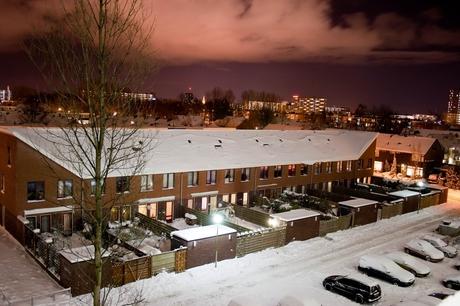 Sneeuw bij nacht